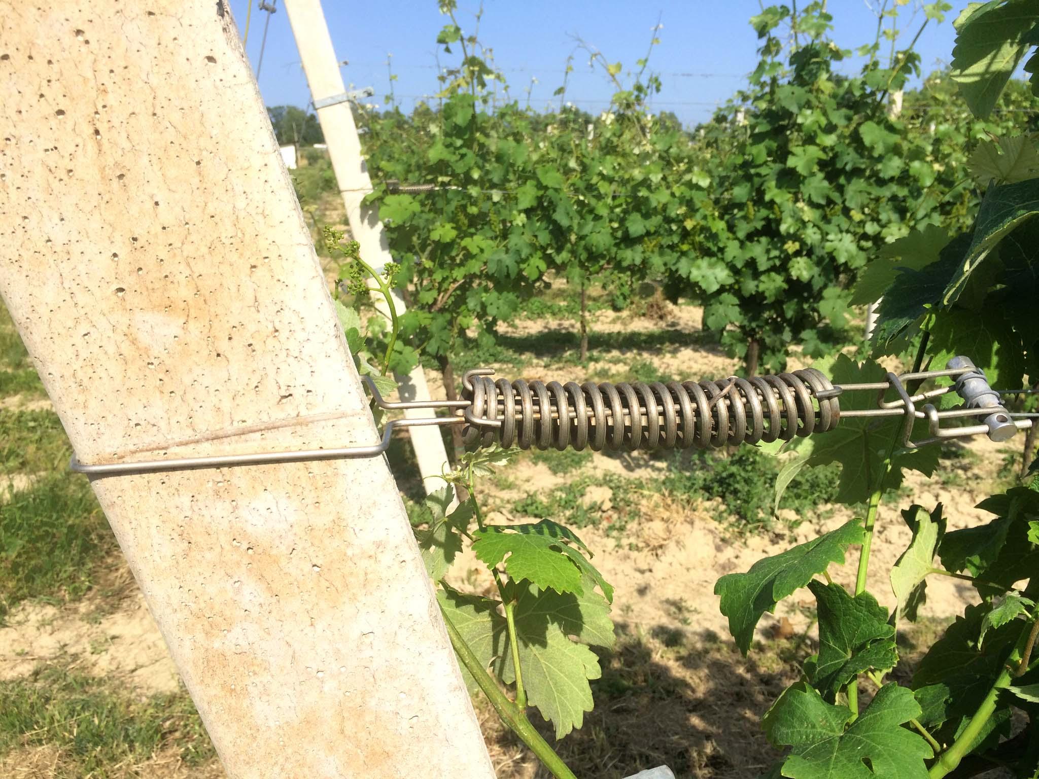 Ammortizzatore per pali in cemento precompresso con rullino corto