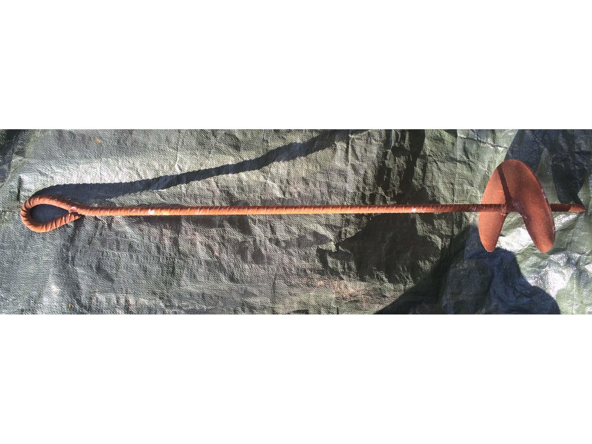 Ancora ad elica in acciaio grezzo sezione stelo mm.26