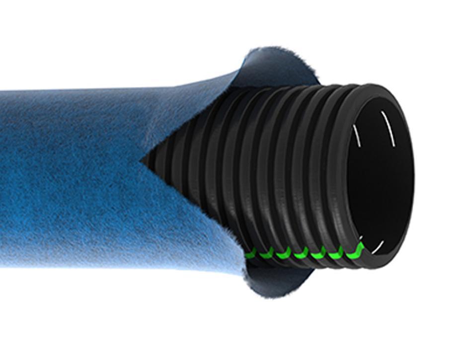 Tubo corrugato FILdren(R) fessurato e rivestito per drenaggio