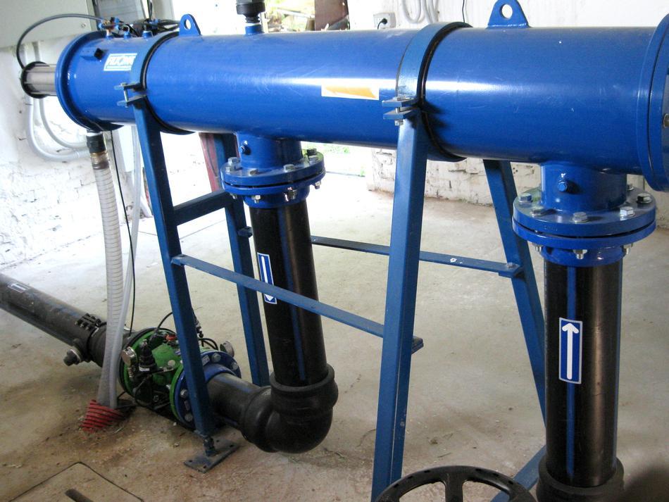 Filtro a rete automatico FILTOMAT(R) in acciaio verniciato epossidico