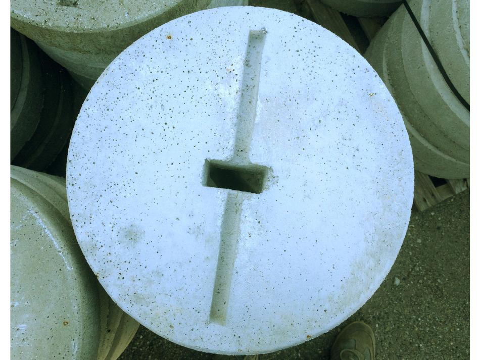 Piastra in cemento per ancoraggio